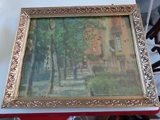 "Vintage metal frame with picture signed Peter Hayward 15-3/4"" x 12-3/4"""