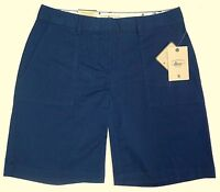 """NWT Bass 9"""" Inseam Horizon Chino Blue Shorts Relaxed Fit Womens"""