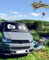 VW T5 Screen Cover Window Wrap Frost Black Out Blind Angry Eyes Blue Waterproof