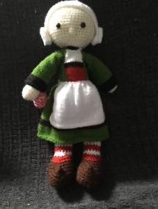 Handmade crochet becassine, secure eyes, polyester padding