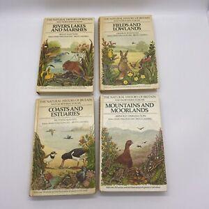 4 VINTAGE HARDBACKS BOOKS Natural History Of Britain And Northern Europe Nature
