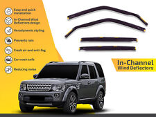 In channel wind deflectors rain guards for Land Rover LR3 / LR4 2005-2009 4pc