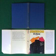 Georges SIMENON - IL RICCO , Mondadori (1° Ed 1971) Libro