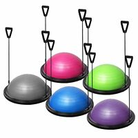 Fitness Yoga Balance Exercise Trainer ball W/ Resistance Bands & Pump