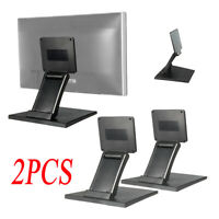 2XTilt Mounted Fold Monitor Holder VESA 10'-27'TV LCD Display Touch Screen Stand