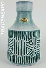Vintage 60-70 U-KERAMIK (UBELACKER)Blue Relief Vase 1236/17 West German Pottery