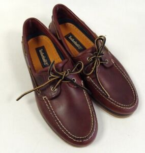 Mens Timberland Casual Boat Shoes In Dark Brown UK Size 9 Unboxed Leather