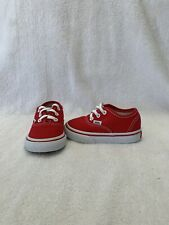 Vans Off The Wall Toddler Boys/Girls Red/white Shoes~size 5 C