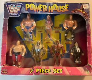 1997 WWF Power House Bend-Ems 7 Peice Box Set Wrestling Figures