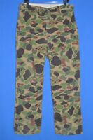vintage 80s SAFE T BAK GREEN BROWN CAMOUFLAGE HUNTING CAMO MEN'S PANTS