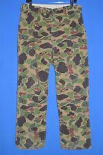 vintage 80s Safe T Bak Green Brown Camouflage Hunting Camo Men'S Pants