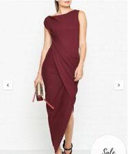 Vivienne Westwood Anglomania Burgundy Vian Jersey Drape Dress Size - Medium