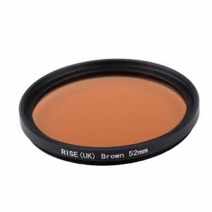 RISE(UK) 52mm Full Brown Color Conversion Lens Filter Mount for DSLR SLR Camera