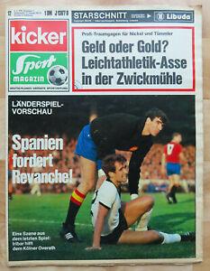 Kicker Sportmagazin Nr. 12 / 1970