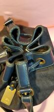 Women Dooney & Bourke Denim Leather Handle Large bucket bag