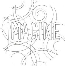 Embroidery Transfer - Circle Design & Inspiration Text Iron On Reusable 15x15cm