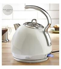 1.8 Litre White Stainless Steel Sparkle Dome Kettle