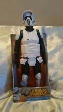 "star wars scout trooper 18"" New -Blaster included"