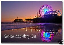 Santa Monica Pier, CA, Beach, 2 x 3 Souvenir Fridge Locker Travel Magnet CA020