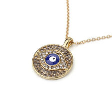 Women's Fashion Jewelry Evil Eye Vintage Metal Pendant Necklace Gold Color 53-3