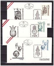 Austria 1970 6x FDC Clocks