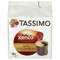 Tassimo Kenco Colombian Coffee Pods Smooth Drinks 5 Case 80 Pods Arabica Beans