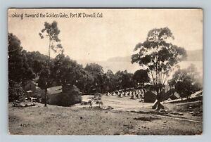 Fort McDowell Angel Island, Army, Troop Tents, Vintage California c1918 Postcard