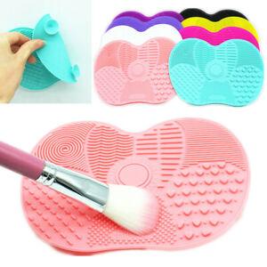 Make up washing brush gel cleaning mat foundation makeup brush Cleaner Pad UK