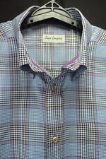 David Donahue Men's Size XL LS 100% Cotton Button-Front Button-down Casual Shirt