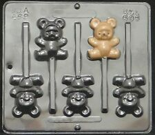 Teddy Bear Lollipop Chocolate Candy Mold Baby Shower 606 NEW