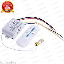 3 Ways Remote Switch, Wireless RF Radio Remote Control Switch Light / Fan / RF