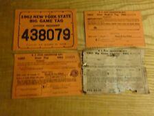 1962 New York Citizen Resident Big Game Hunting License Back Tag 438079