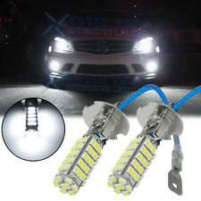 For Fog DRL Daytime Running Lights White Xenon Brightness 68-SMD H3 LED Bulbs 2x