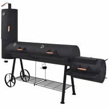 vidaXL BBQ Charcoal Smoker with Bottom Shelf Black Heavy XXXL Barbecue Grill