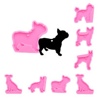 Dog German Shepherd Poodle Silicone Mold DIY Resin Clay Keychain Jewelry Pendant