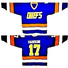 Men's Charleston Chiefs Blue 56 3x Jersey Hanson Brother Slap Shot Movie CCM