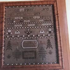 Scarlet Letter Ann L Brown Cross Stitch Sampler Kit Historic 1826 Reproduction