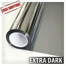 One Way Mirror Window Film Tint Reflection 36 inch X 12 ft Silver 5 Extra Dark