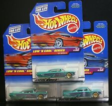 3 NEW HOT WHEELS LOW 'N COOL SERIES '59 IMPALA 698 GREAN LOW RIDER 2/4