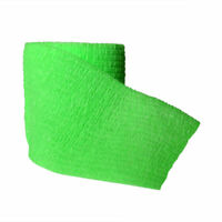 """5 Rolls Non-woven Cohesive Bandage Self-Adherent Sports 2""""x5 Fluorescent Green"""