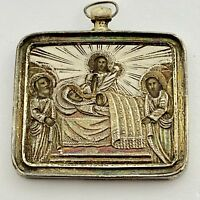 Antique Russian Silver Gilt 84  Icon