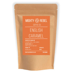 English Caramel Coffee (100% Arabica) - Flavoured Roasted Coffee Cafetiere