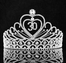 30-Year-Old Birthday Party Austrian Rhineston Tiara Crown Hair Combs T815 Silver
