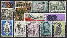 Belgique - 13 timbres oblitérés -