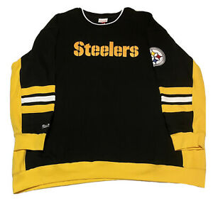 Mitchell & Ness Men's Steelers Hometown Champs Crewneck Pullover Sweater 4XLT