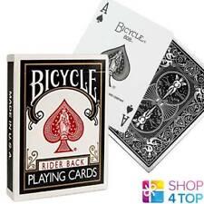 BICYCLE RIDER BACK STANDARD INDEX POKER PLAYING CARDS MAGIC TRICKS BLACK USA NEW