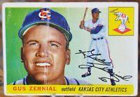1955 Topps Baseball Card #110 Gus Zernial, Kansas City Athletics - VG