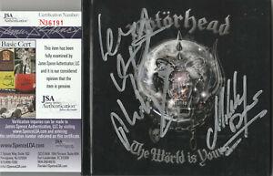 SIGNED MOTORHEAD AUTOGRAPHED WORLD IS YOURS CD LEMMY CERTIFIED JSA COA # N36191