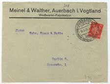 44009 - Sonderstempel und Umschlag: Weißwaren - Auerbach (Vgtl.) 16.8.1924