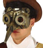 Masque de la Peste STEAMPUNK Doré Déguisement Homme NEUF Pas cher